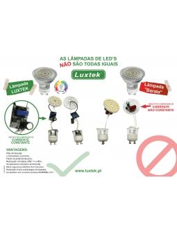 Vantagens das lâmpadas de LED´s LUXTEK